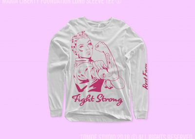 fight strong long sleeve tee mockup
