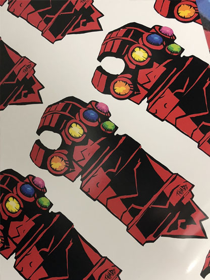 Hellboy Infinity Gauntlet stickers are available now!
