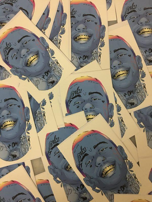 lil peep vinyl sticker