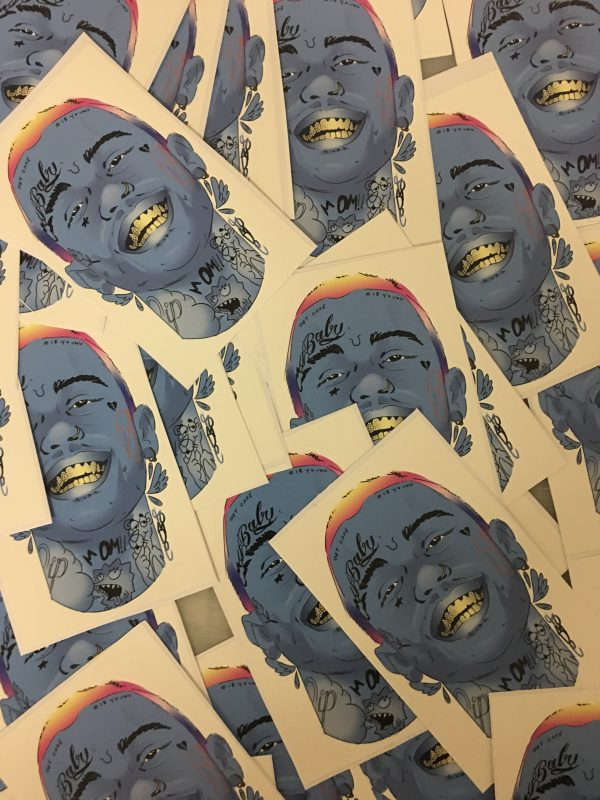 Lil Peep Sticker - Rest in Peace 1