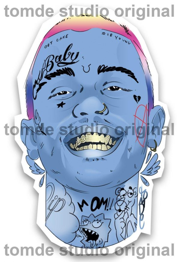 lil peep sticker original collectible