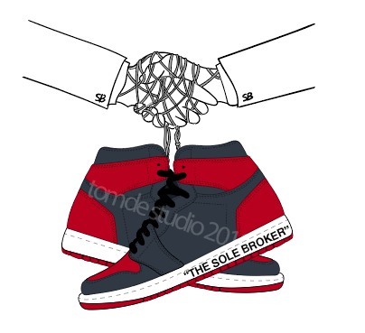 How to make realistic stitching in illustrator for sneakers (Chicago Air Jordan 1) 1