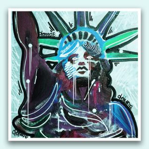 Statue of Liberty Sticker Original Canvas