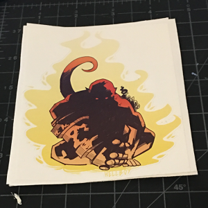 baby hellboy sticker