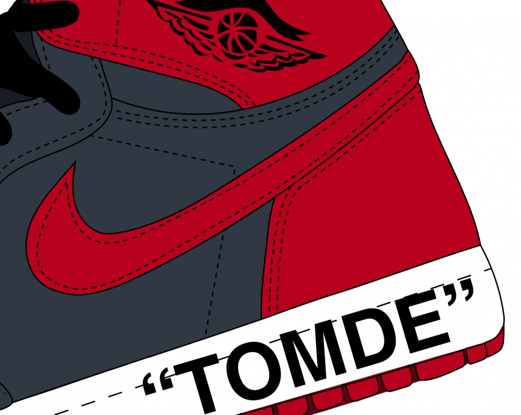 How to make realistic stitching in illustrator for sneakers (Chicago Air Jordan 1) 2