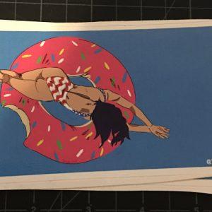 Kylie's doughnut pool float sticker design