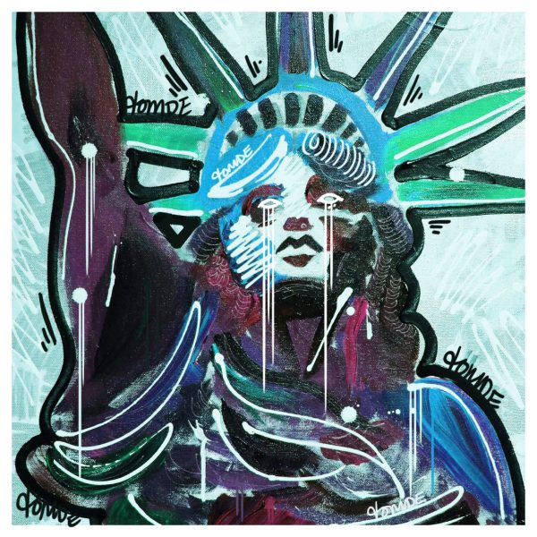 Lady Liberty Digitally Enhanced Canvas Design tomde
