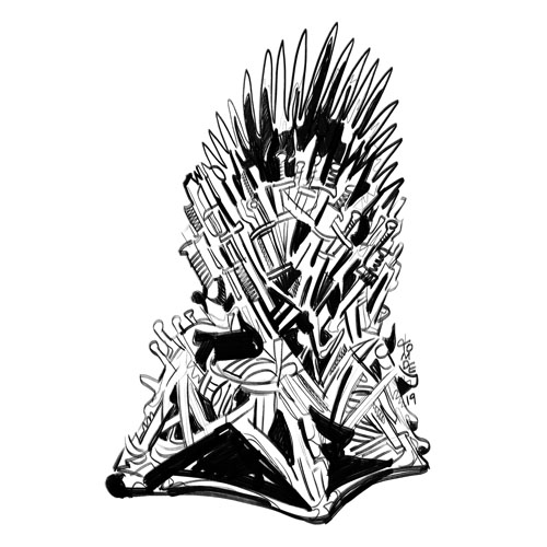 Game of Thrones Iron Throne - Sticker Design Steps 2