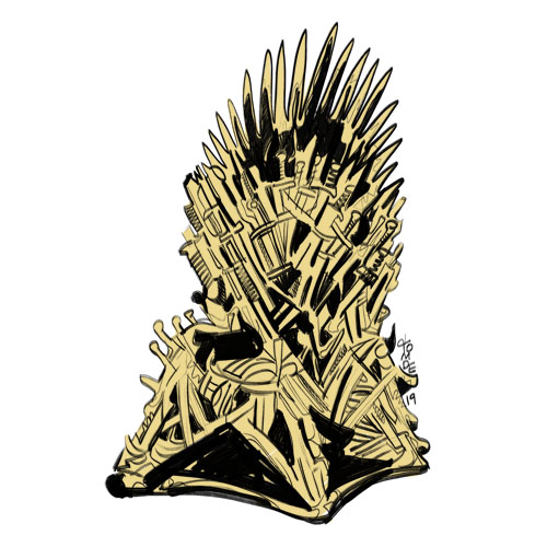 Game of Thrones Iron Throne - Sticker Design Steps 3