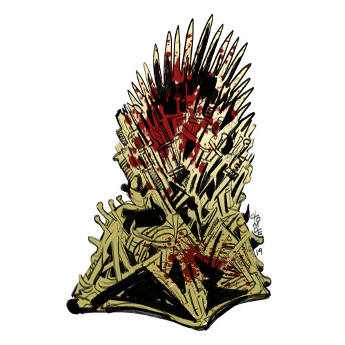 Game of Thrones Iron Throne - Sticker Design Steps 5