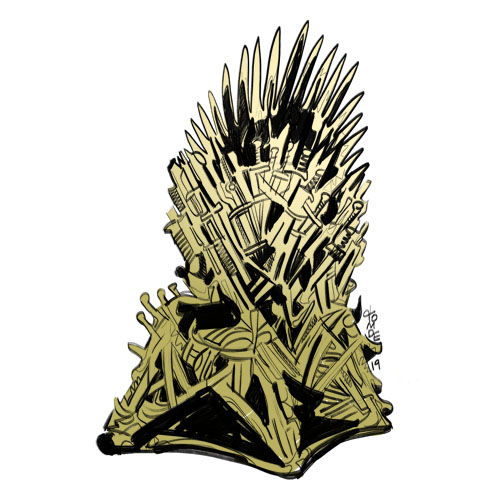 Game of Thrones Iron Throne - Sticker Design Steps 4