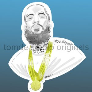 nipsey hussle sticker design