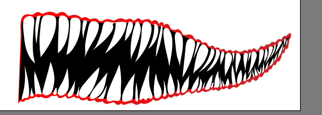 Shark Mouth Design for Boat (Step-by-Step Graphic Design) 4