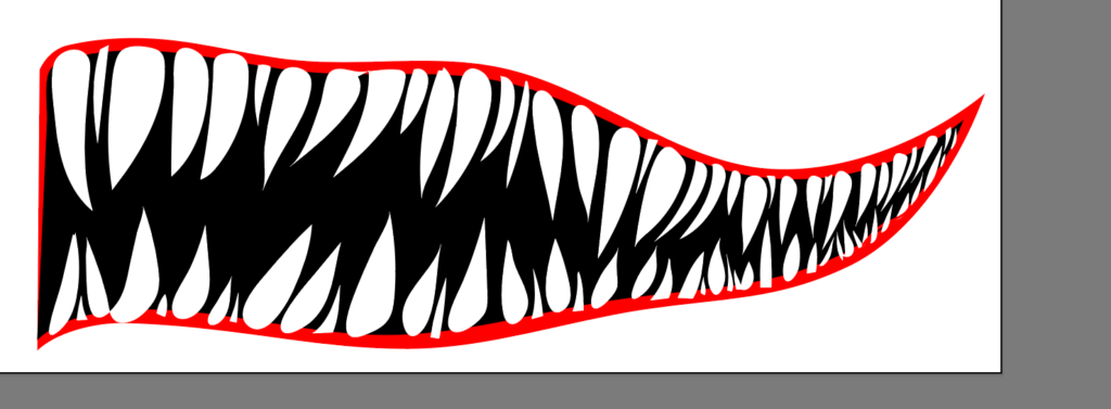 Shark Mouth Design for Boat (Step-by-Step Graphic Design) 3