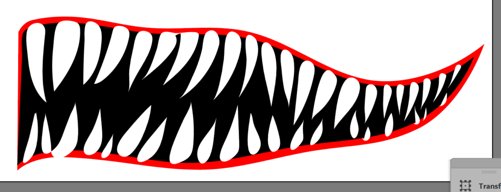 Shark Mouth Design for Boat (Step-by-Step Graphic Design) 2