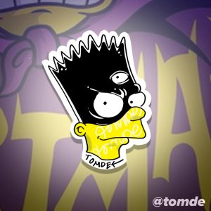 bartman simpsons sticker design