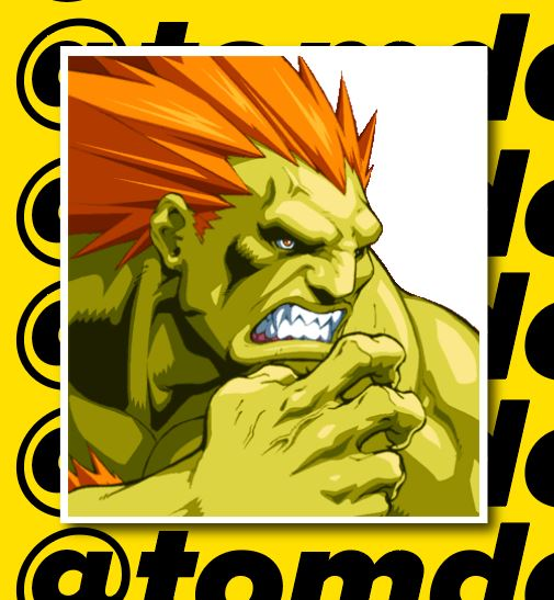 street fighter blanka sticker