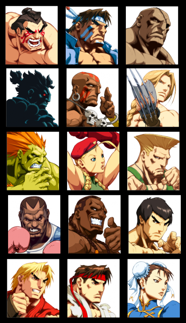 Street Fighter Character Portrait Stickers (Various) 1