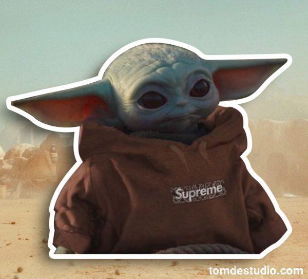 Supreme Baby Yoda 1