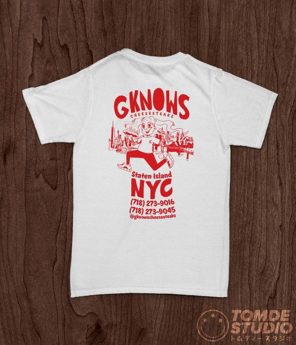 G-Know's CheeseSteaks Old School Tee 1